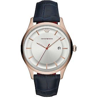 Emporio Armani Kwarc niebieski pasek męski mężczyźni nadgarstka zegarek AR11131