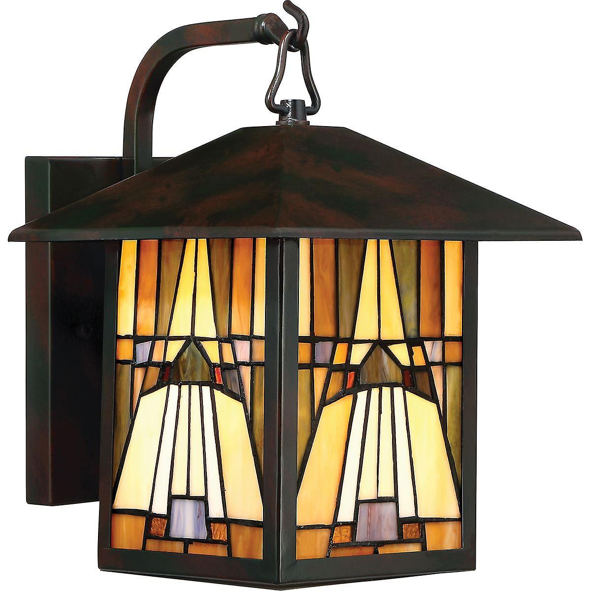 Elstead - 1 lumière de plein air Medium lanterne murale - Bronze Finish - QZ INGLENOOK2 M