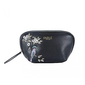 Fable Womens/Ladies Bird Embroidered Shell Shaped Makeup Bag