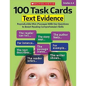 100 Task Cards - Text Evidence - Reproducible Mini-Passages with Key Qu