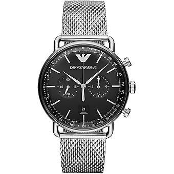 Emporio Armani Ar11104 Black Dial Stainless Steel Mesh Men's Watch