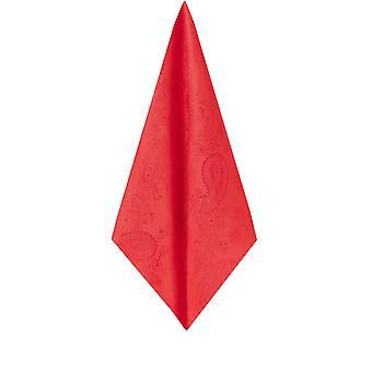 Dobell Mens Red Paisley Handtuch