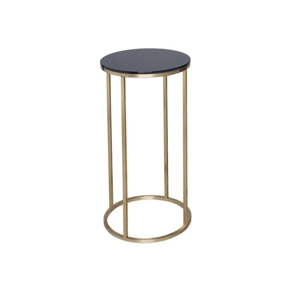 Gillmore Space noir Glass And or Metal Contemporary Circular Lamp Table