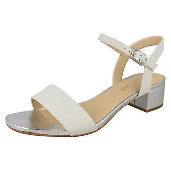 Ladies Clarks Peep tå högklackade sandaler Orabella Iris