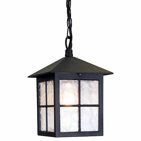 1 lumière de plein air Ceiling chaîne Lantern noir Ip43