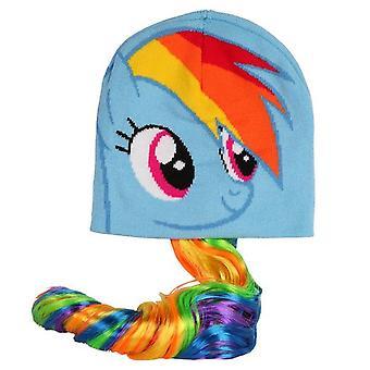 Beanie Cap - My Little Pony - Rainbow Dash w/ Long Tail New 199453