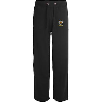 Royal Scots Veteran - Licensed British Army Embroidered Open Hem Sweatpants / Jogging Bottoms