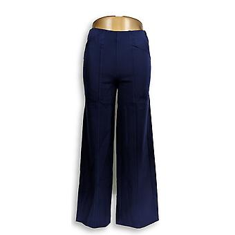Isaac Mizrahi Live! Women's Petite Pants 24/7 Stretch Pull-On Blue A286104