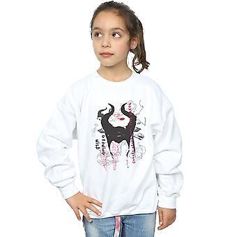 Disney Girls Maleficent Mistress Of Evil Growing Wild Horns Collage Sweatshirt