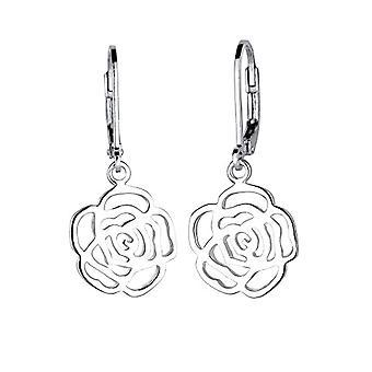 925 Elli Damen-Pink Earrings - silver 0301872315