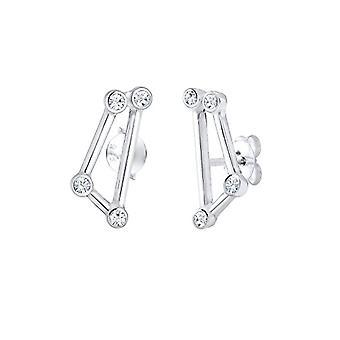 Elli Silver Women's Pin Earrings 302581218
