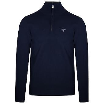 Gant GANT Super feinen Lambswool Half-Zip Sweatshirt Navy