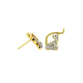Earrings Iced Out Baby Phat Inspired Gold
