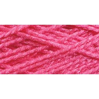 Needloft Craft Yarn 20 Yard Card Bright Pink 510 62