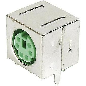 ASSMANN WSW A-DIO-FS06/GREEN Mini DIN-panel-mounted Socket, Shielded shielded Number of pins: 6
