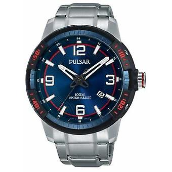 Pulsar Mens Stainless Steel Bracelet Blue Dial PS9477X1 Watch