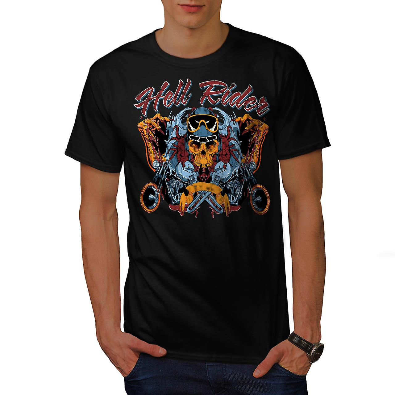 Hell Rider Chopper Biker Life Men Black T-shirt | Wellcoda