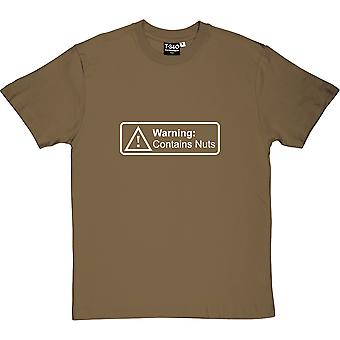 Warning: Contains Nuts Men's T-Shirt
