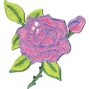 Iron-On Appliques-Rose W/Stem A001300-225