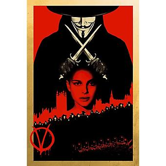 V para Vendetta Movie Poster (11 x 17)