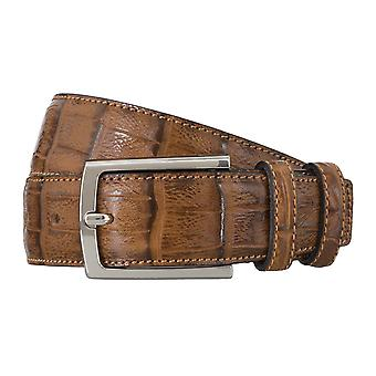 DANIEL HECHTER belts men's belts leather belt Cognac 4861