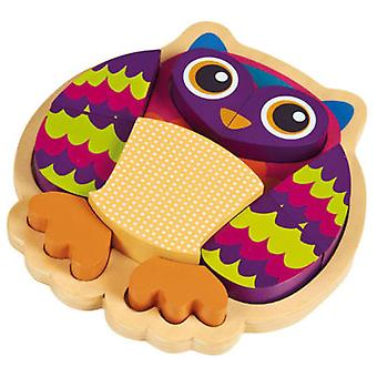 Oops 3D Puzzle Wood Owl 9 Pieces (Toys , Preschool , Puzzles And Blocs)