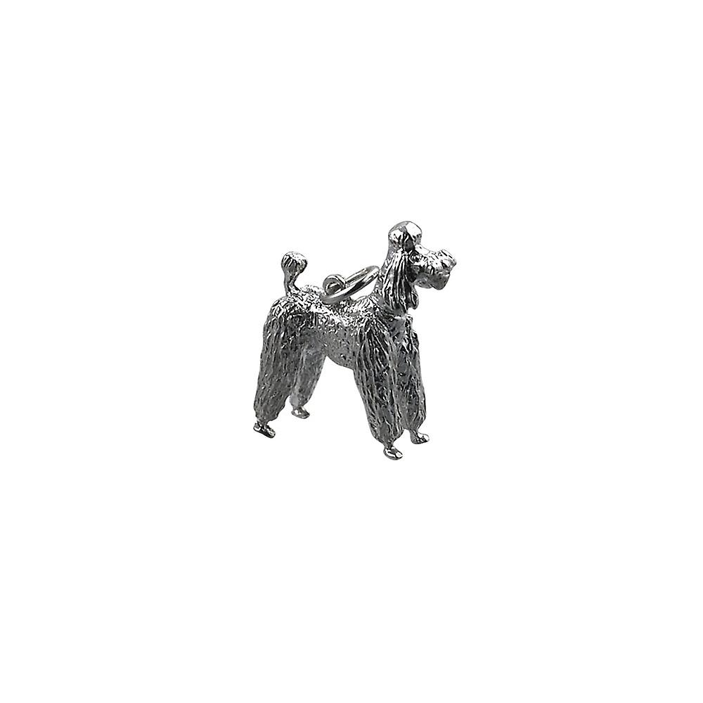 Silver 23x19mm Poodle Pendant or Charm