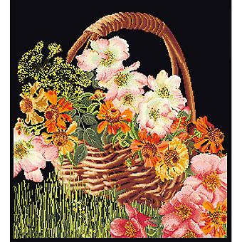 Flower Basket On Aida Counted Cross Stitch Kit-13.25
