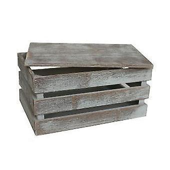 Set of 3 Vintage Slatted Wooden Box