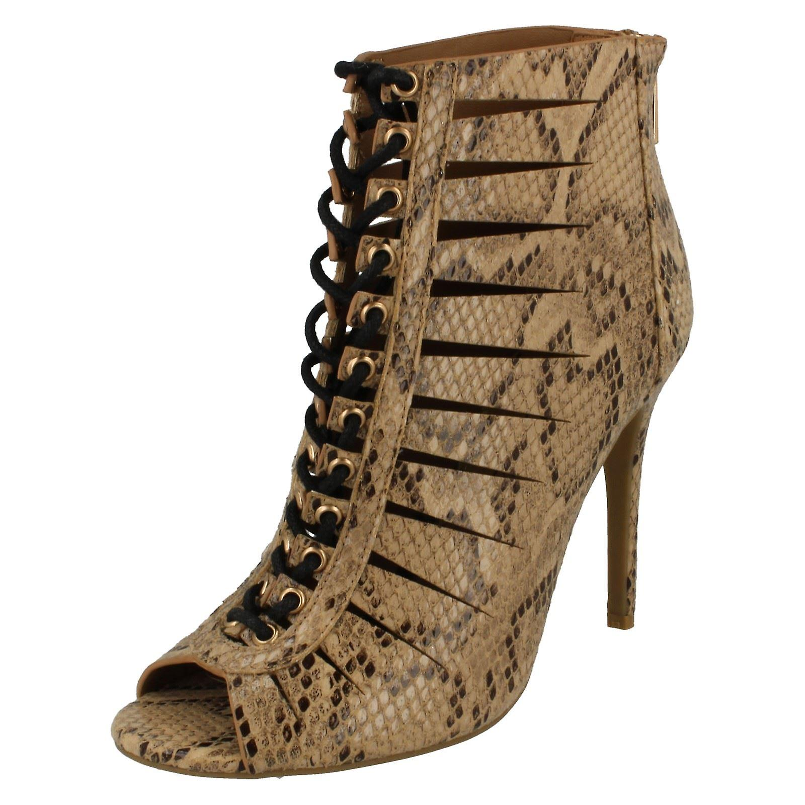 Le signore Anne Michelle alta tacco Lace Up Cut-Out sandalo F10507