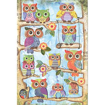 MultiCraft Boho-Chic 3D Stickers-Owl SS823-C
