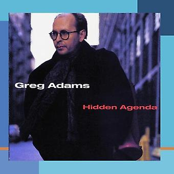 Greg Adams - Hidden Agenda [CD] USA import