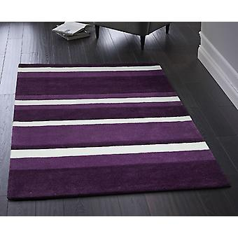 Boston Stripe Purple  Rectangle Rugs Plain/Nearly Plain Rugs
