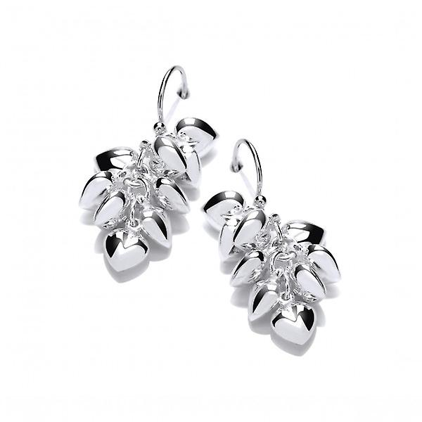 Cavendish French Heaps of Hearts Silver Earrings