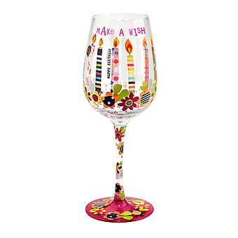 Here's To You Make a Wish Wine Glass
