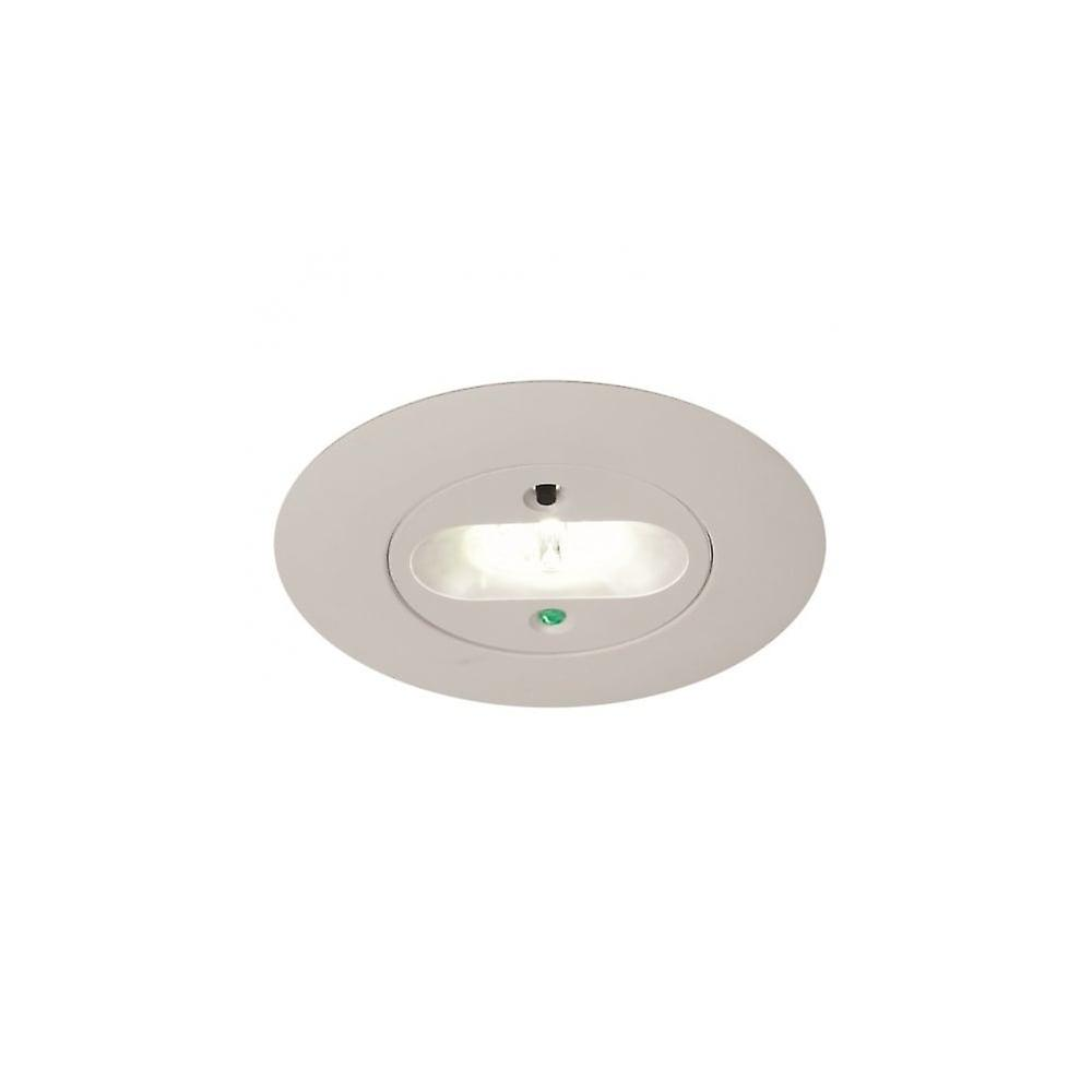 Ansell Merlin LED Emergency Downlight 5W LED, Escape Route Lens
