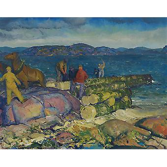 George Bellows - Dock bouwers Poster Print Giclee