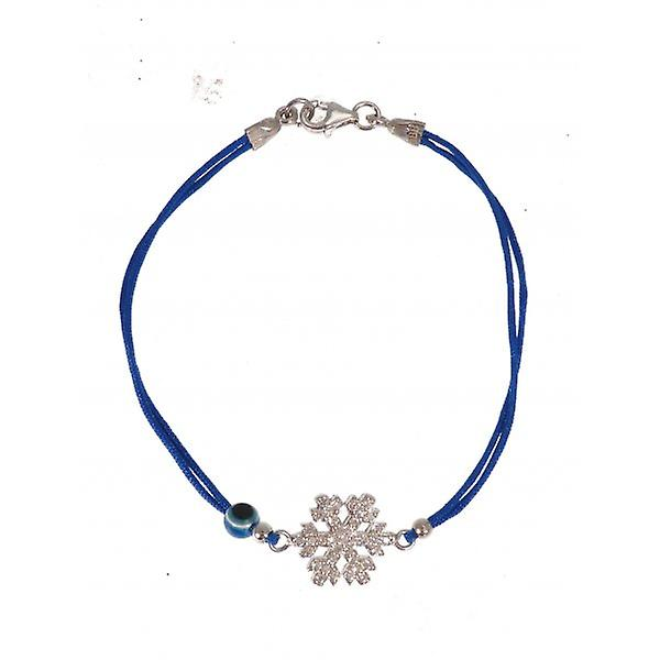 W.A.T Sterling Silver And CZ Crystal Snow Flake Friendship Bracelet