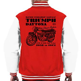 Haynes Besitzer Workshop manuelle Triumph Daytona 350 500 Varsity Herrenjacke