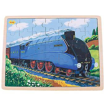 Bigjigs Toys Mallard Train Wooden Tray Puzzle - 35 Piece Puzzle