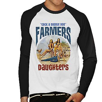 Sexy Farmers Daughters Cock A Doodle Doo Men's Baseball Long Sleeved T-Shirt