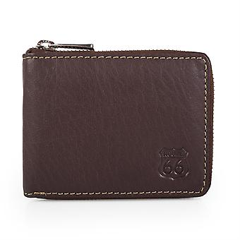 Zip læder tegnebog