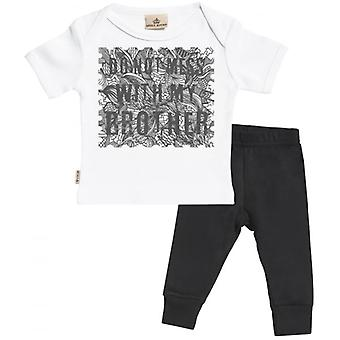 Spoilt Rotten Don't Mess With My Brother Baby T-Shirt & Baby Jersey Trousers Outfit Set