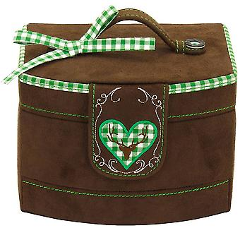 Jewelry box jewelry box jewelry box Friedrich Velour Brown green checkered