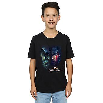 Marvel Boys Thor Ragnarok Hulk Split Face T-Shirt