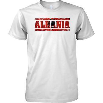 Albanien-Grunge Land Name Flag-Effekt - Kinder T Shirt