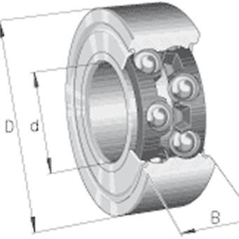 Ina 3804-2Z Angular Contact Ball Bearing