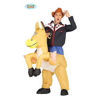 Cowboy horse piggyback costume riding horse inflatable motor piggyback costume