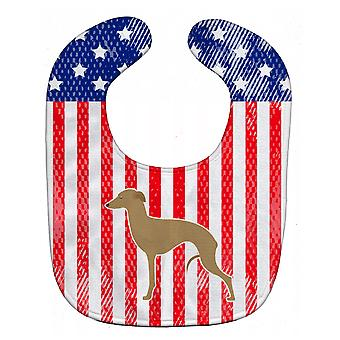 Carolines Treasures  BB3314BIB USA Patriotic Italian Greyhound Baby Bib