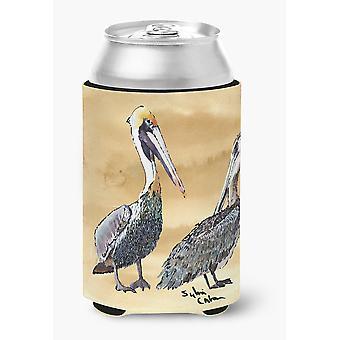 Carolines skatter 8408CC Bird - Pelican kan eller flaske drikke isolator Hugg